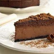 Kuchen mit Schokolademousse und Kaffee