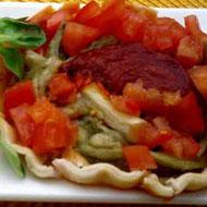 Carpaccio de tomates y berenjenas
