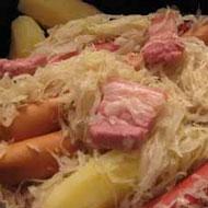 Рецепт квашенаой капусты со Страсбургской колбасой