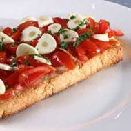 Receita Bruschetta de tomate fresco